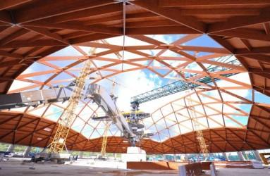 Huge timber dome